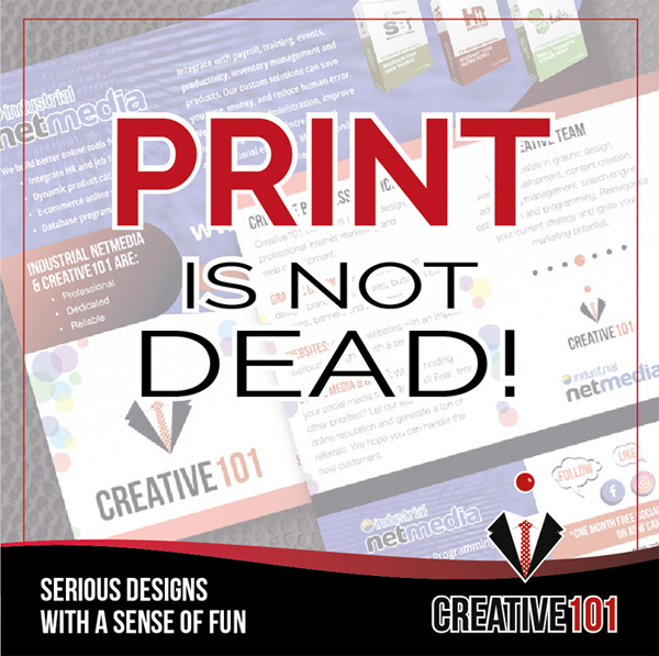 Printed brochures are still a great option.