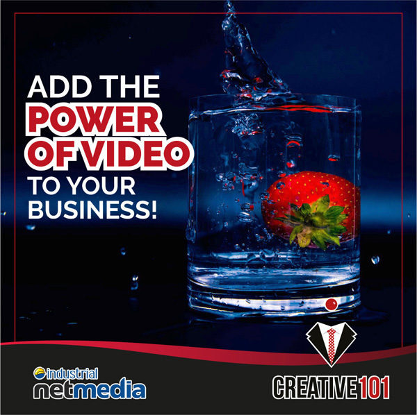 The power of video with Creative101 & Industrial NetMedia