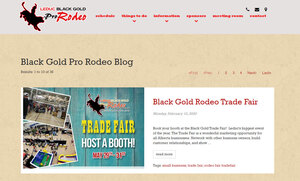 The Black Gold Rodeo homepage by INM of Edmonton has a link section to all the events available at the BGR
