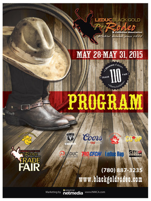 The iconic stetson/boots/lasso graphic on all 2015 BGR marketing material was also used for the cvover of the program designed by INM of Leduc