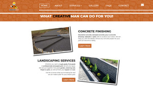 CreativeMan website designed by Creative101