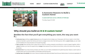 Blog page for McLean & McLean Custom Home Builders