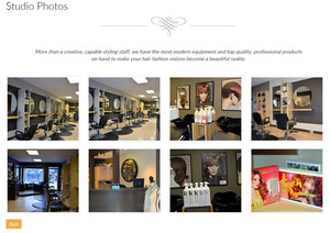 A series of photos showing off the interior of Zulu Hair Design studio are contained in the Salon Gallery created by Industrial NetMedia