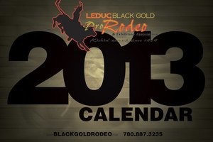 Industrial NetMedia created this sharp calendar cover for Leduc's Black Gold Rodeo in 2013