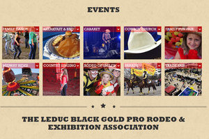 Important aspects of the Black Gold Rodeo are highlighted by this link section of the BGR homepage built by Leduc's Industrial NetMedia