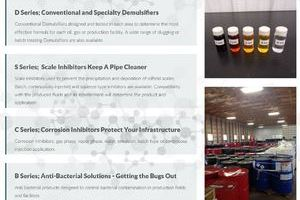 A collection of carefully labeled chemical samples and a large warehouse filled with drums of chemicals are featured images on a website for Contact Chemicals built by INM of Alberta