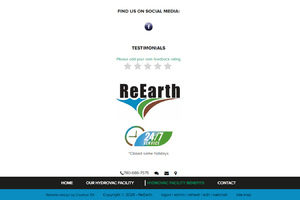 ReEarth website designed by Creative101